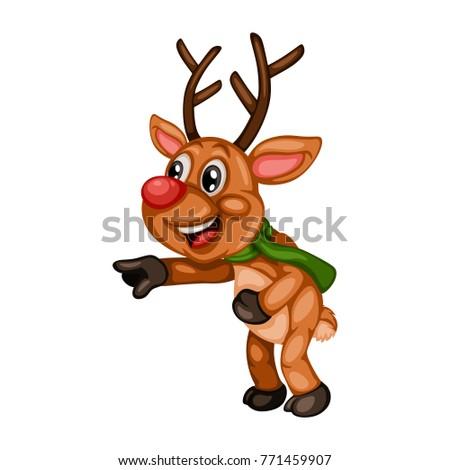 Cute christmas reindeer rudolf stock vector colourbox - Finestre schuco dwg ...