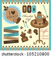 cute coffee time scrap collection. vector illustration - stock vector