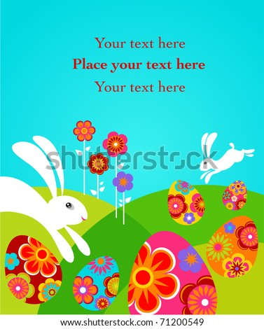 Cute colorful Easter card
