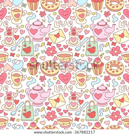 seamless doodle coffee pattern - photo #30
