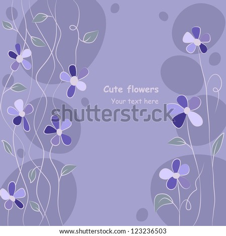 cute floral background, vector