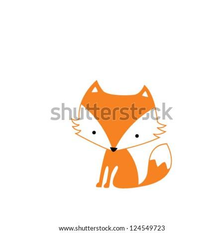 Cute cartoon fox face - photo#12