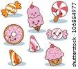 Cute Happy Candies - stock vector