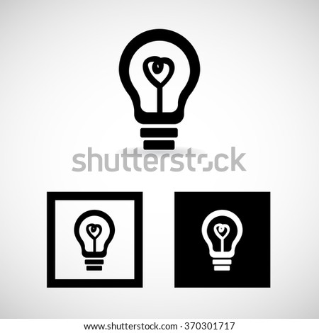 Cute Heart Light Bulb Vector EPS10, Great for any use.