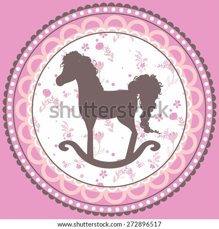 Cute little horse - cupcake topper