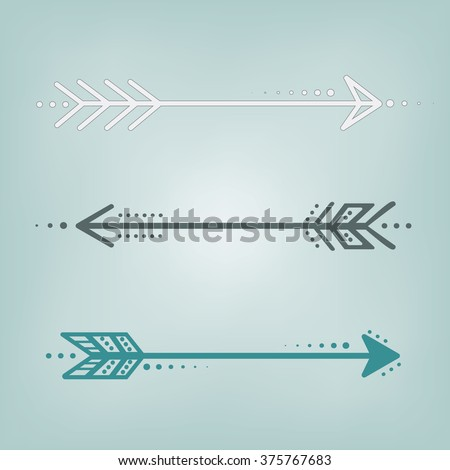 Cute retro arrows in blue, grey and white on a blue teal background, square format for scrapbooking