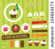 cute scrapbook tea time elements collection.vector illustration - stock vector