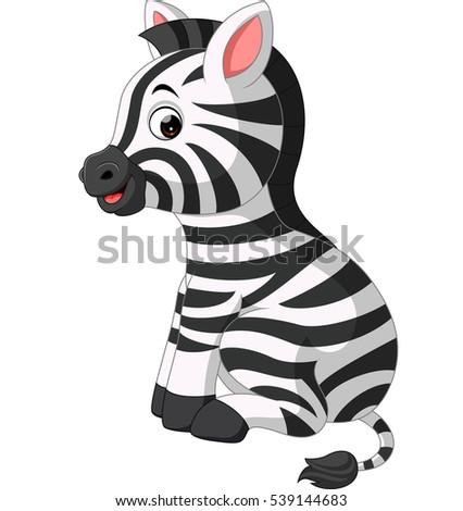 Christmas Holiday Zebra Vector Illustration Stock Vector ...