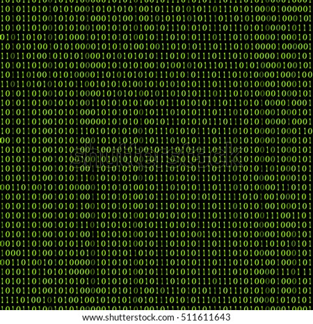 Cyber code seamless pattern. Vector signs on black background