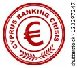 Cyprus banking crisis stamp - stock photo
