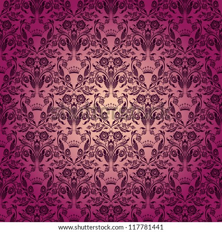 Damask Seamless Floral Pattern. Royal Wallpaper. Flowers On A Rose