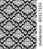 Damask seamless pattern for background design in white and black color. Jpeg version also available in gallery - stock vector