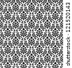 Damask Seamless Vector Pattern in Black and White colors.  Elegant Design in Royal  Baroque Style Background Texture. Floral and Swirl Element.  Ideal for Textile Print and Wallpapers. - stock vector