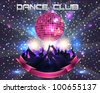 Dance Club Vector Template - stock photo