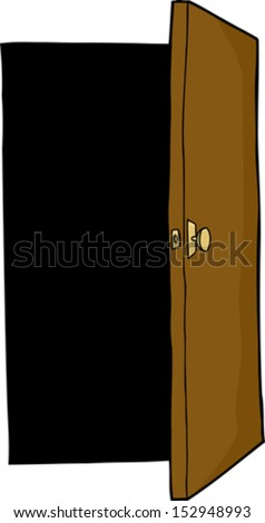 Open Closet Door Drawing empty open suitcase cartoon over white stock vector 132182366