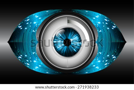 dark blue black color Light Abstract Technology background for computer graphic website internet and business. circuit. vector illustration. eye. eyeball