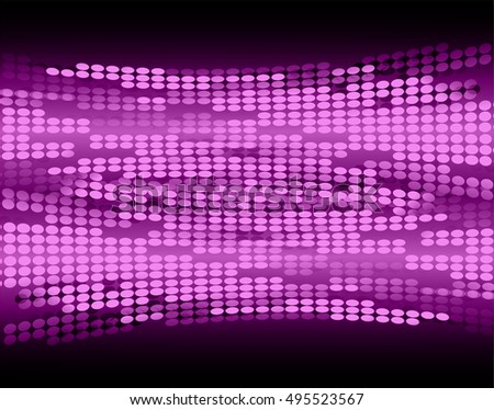Dark purple Abstract light lamps background for Technology computer graphic website internet and business. Screen on stage.Vector illustration.Spot Effect. neon.point, platform, Spotlights