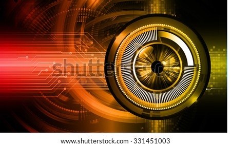 Dark red yellow Light Abstract Technology background for computer graphic website internet business. circuit. vector illustration. infographics. motion move blur.neon. pixel. eye