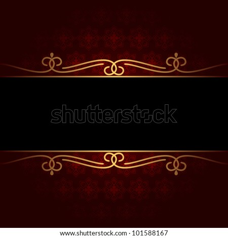 Dark vintage background. The background consists of red and black color. EPS-8.