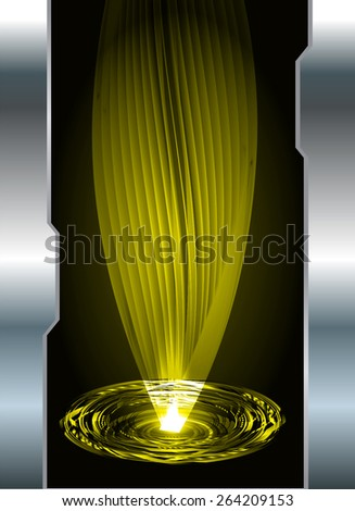 dark yellow color Light Abstract Technology background for computer graphic website internet and business. circuit. silver background. spiral, braid