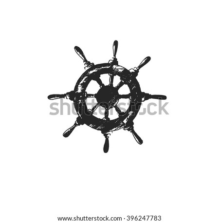 how to draw a ship wheel