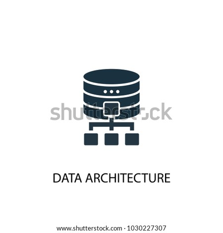 Data Architecture Icon Simple Element Illustration Symbol Design From Big