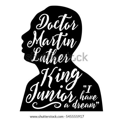 DECEMBER 30, 2016: Illustrative editorial stylized portrait or Dr. Martin Luther King Jr.  For remembrance on Martin Luther King Day. EPS 10 vector.