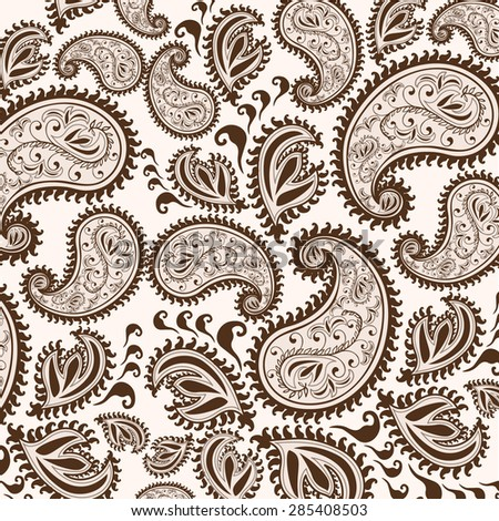 Decorative background Hand-Drawn Henna Mehndi Abstract Mandala Flowers and Paisley Doodle Vector Illustration Design Elements
