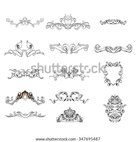 Vintage baroque frame vector stock vector 329933834 for A style text decoration