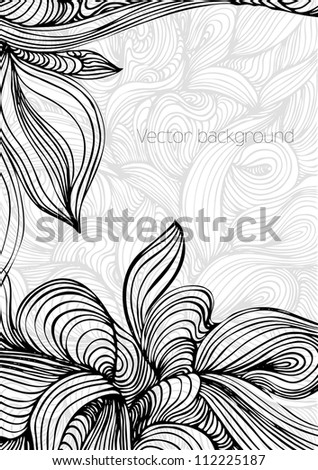 Decorative floral background, abstract vector illustration,