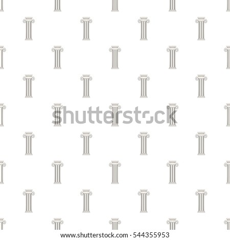Decorative roman pillar pattern. Cartoon illustration of decorative roman pillar vector pattern for web