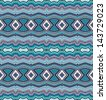 Decorative seamless wavy border pattern - stock vector