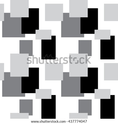 Decorative tiles. Various rectangles and squares in the background. Vector seamless patterns. Interior wall panel. Geometric stylish background.