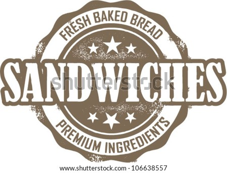 Deli Sandwich Menu Stamp Deli