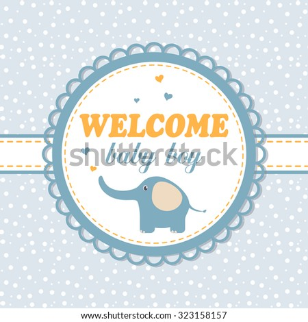 Baby Shower Invitation Card Wooden Rocking Stock Vector 275550812