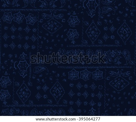 denim paisley pattern