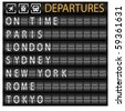 Departure Board - stock vector