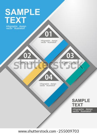 Design clean number banners template/graphic or website layout