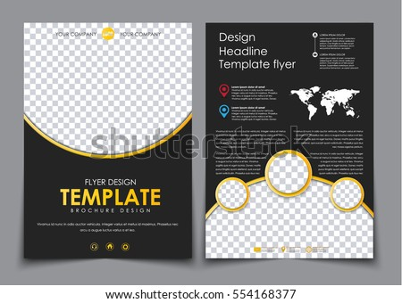 large set polygonal brochures flyers advertising stock vector 364588316 shutterstock. Black Bedroom Furniture Sets. Home Design Ideas