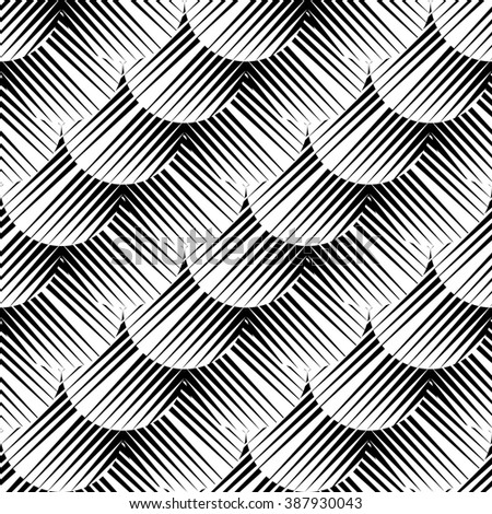 Design seamless monochrome geometric pattern. Abstract diagonal background. Vector art. No gradient