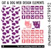 Designs of Pets and Other Related Items - Vector. Pet Store marketing materials. Icons set - stock vector