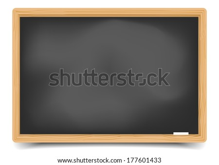 detailed illustration of a blank blackboard, eps10 vector, gradient mesh included