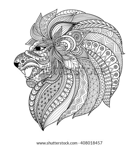Zentangle Style Vector Squirrel Stock Vector 269568161