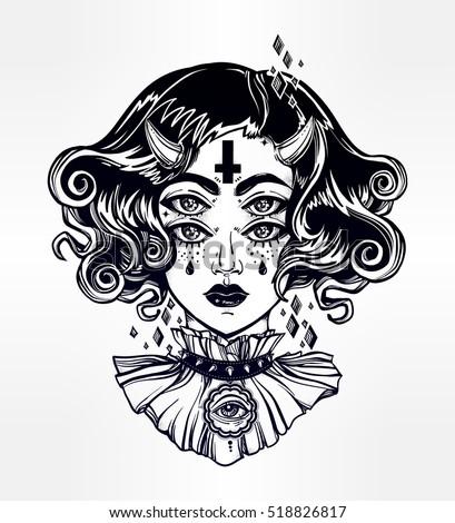 day dead girl black white illustration stock vector 96150557 shutterstock. Black Bedroom Furniture Sets. Home Design Ideas
