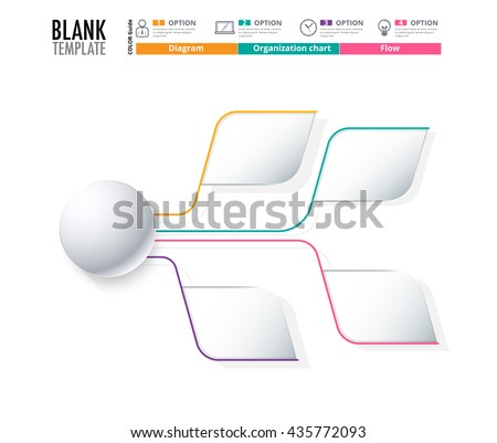Diagram Template Organization Chart Template Flow Stock Vector
