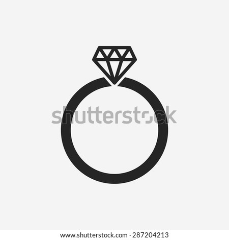 diamond ring vector icon - photo #21