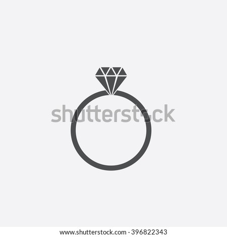 diamond ring vector icon - photo #40