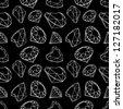 Diamonds seamless pattern - stock vector
