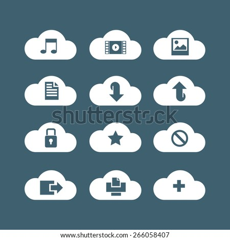 different icons for cloud service