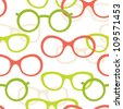 Different style glasses seamless pattern - stock vector